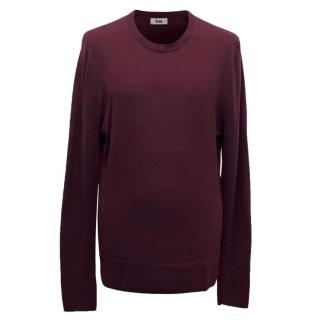 Acne Men's Plum Fine Knit Jumper