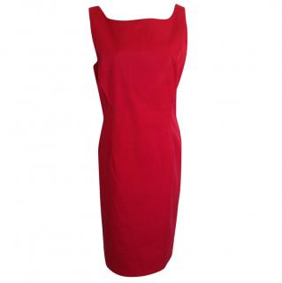 Moschino Cheap &Chic red open back cotton dress