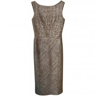 Alberta Ferretti Studded shift dress