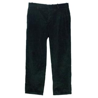 Marni Men's Bottle Green Corduroy Trousers