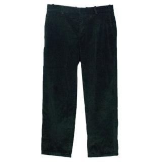 Marni Men's Bottle Green Corduroy Trousers