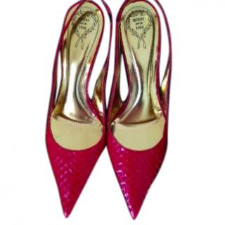 Rodo red python shoes