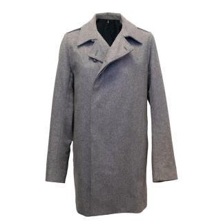 Dior Men's Grey Wool Coat