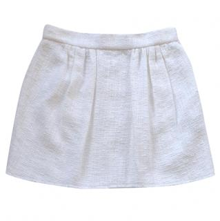 Dolce and Gabbana white cotton mini skirt