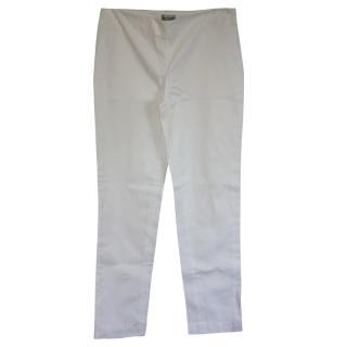 Alberta Ferretti white cotton trousers It 40