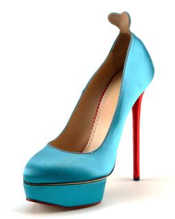 Charlotte Olympia Josephine Turquoise Heels
