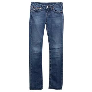True Religion Low Rise Blue Skinny Jeans