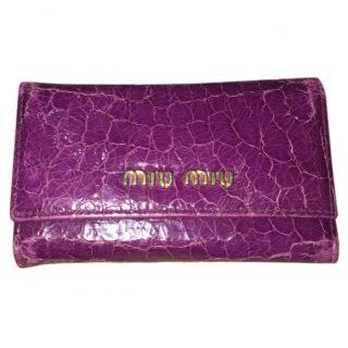 Miu Miu Purple Keychain Wallet