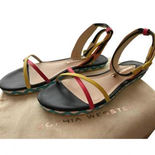 Sophia Webster multicoloured leather sandals