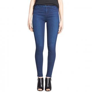 J Brand Maria Skinny Stretch High Rise Blue Jeans