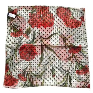 Dolce & Gabbana Red flowers long scarf wrap beachwear