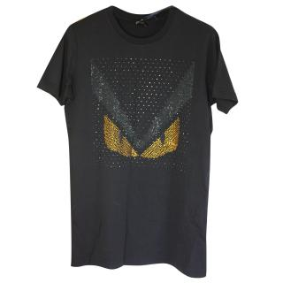 Fendi Swarowski crystal Bugs T-shirt S