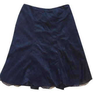 Chanel mesh CC charm navy skirt