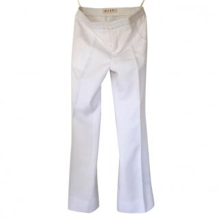 Marni White Tailored Trousers