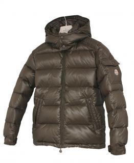 Moncler Maya Jacket, Khaki Size 1