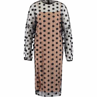 Stella McCartney Black Polka Dot Mesh Dress Size 6