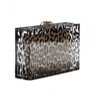 Charlotte Olympia Animal Print Box Clutch