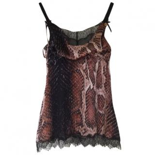Roberto Cavalli Silk Camisole Top