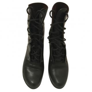 Rag and Bone Black Laced Leather Boots