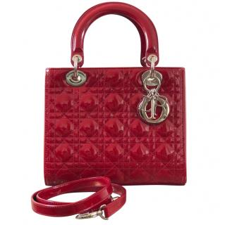 Dior Lady Dior Red Patent Leather