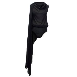 Jean Paul Gaultier Black Silk Sheer Bodysuit