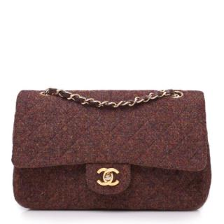 Chanel Tweed Double Flap