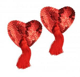 Agent Provocateur Red Heart Shaped Sequin Pasties