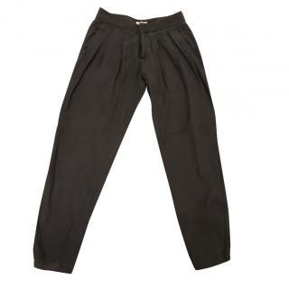 Helmut Lang Grey/ Green Cotton Pants