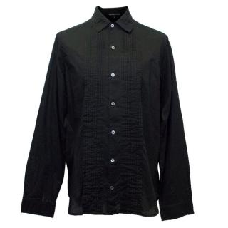 Ann Demeulemeester Men's Black Shirt with Pleating