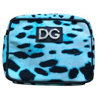 Dolce and Gabbana Mini Blue Leopard Bag