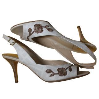 Fendi Embroidered Heels It 35.5