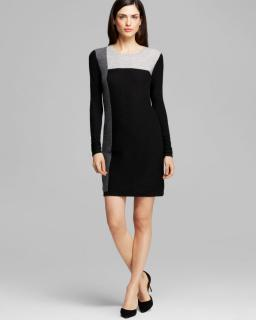 Vince Colorblock Cashmere Dress Sweater