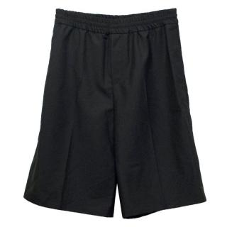 Acne Men's Black Wool and Mohair Shorts