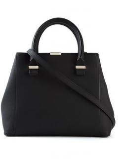 Victoria Beckham Black Leather Quincy Bag