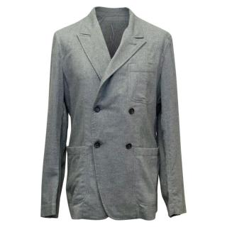 Yves Saint Laurent Grey Cotton Relaxed Fit Jacket