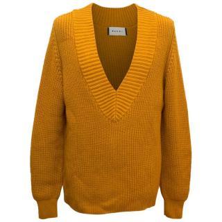 Marni Men's Mustard Yellow Knitted Jumper