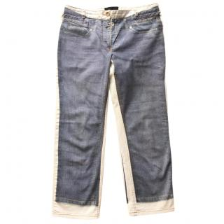 D&G trompe l'oeil print jeans