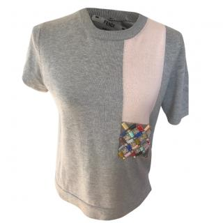 Fendi Embellished T-Shirt