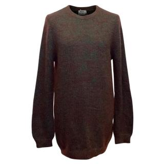 Acne Men's Green and Red Metallic Jumper