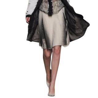 Bottega Veneta runway wool blend skirt