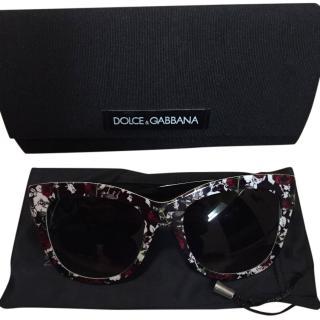 Dolce & Gabbana Flower Print Sunglasses