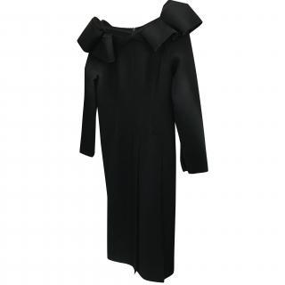 Bottega Veneta Black Off the Shoulder Dress