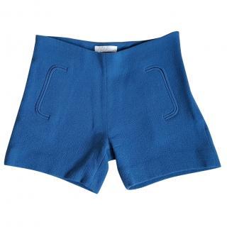 Chloe Blue Boucle Shorts