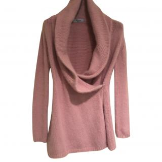 Blumarine Pink Angora Wool Jumper