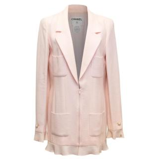 Chanel Nude Pink Jacket/Short Coat with Ruffled Cuffs and Hem