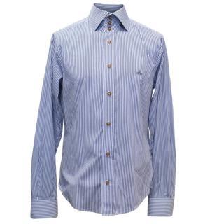 Vivienne Westwood Men's Blue Striped Shirt