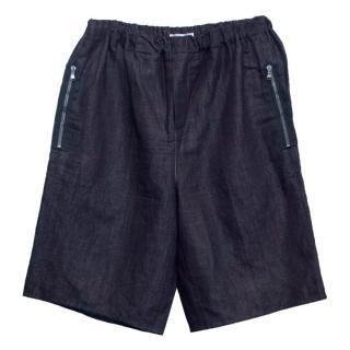 Carven Men's Denim Shorts with Elasticated Waist