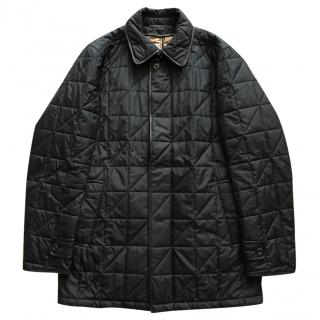 Ermenegildo Zegna Black Quilted Jacket