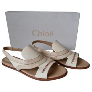 Chloe jewelled snakeskin sandals