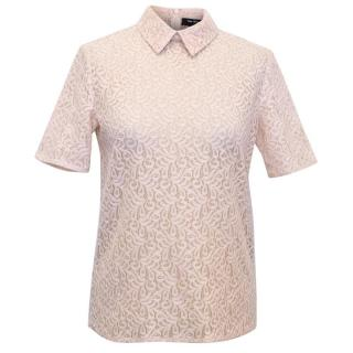 The Kooples Nude Pink Lace Top